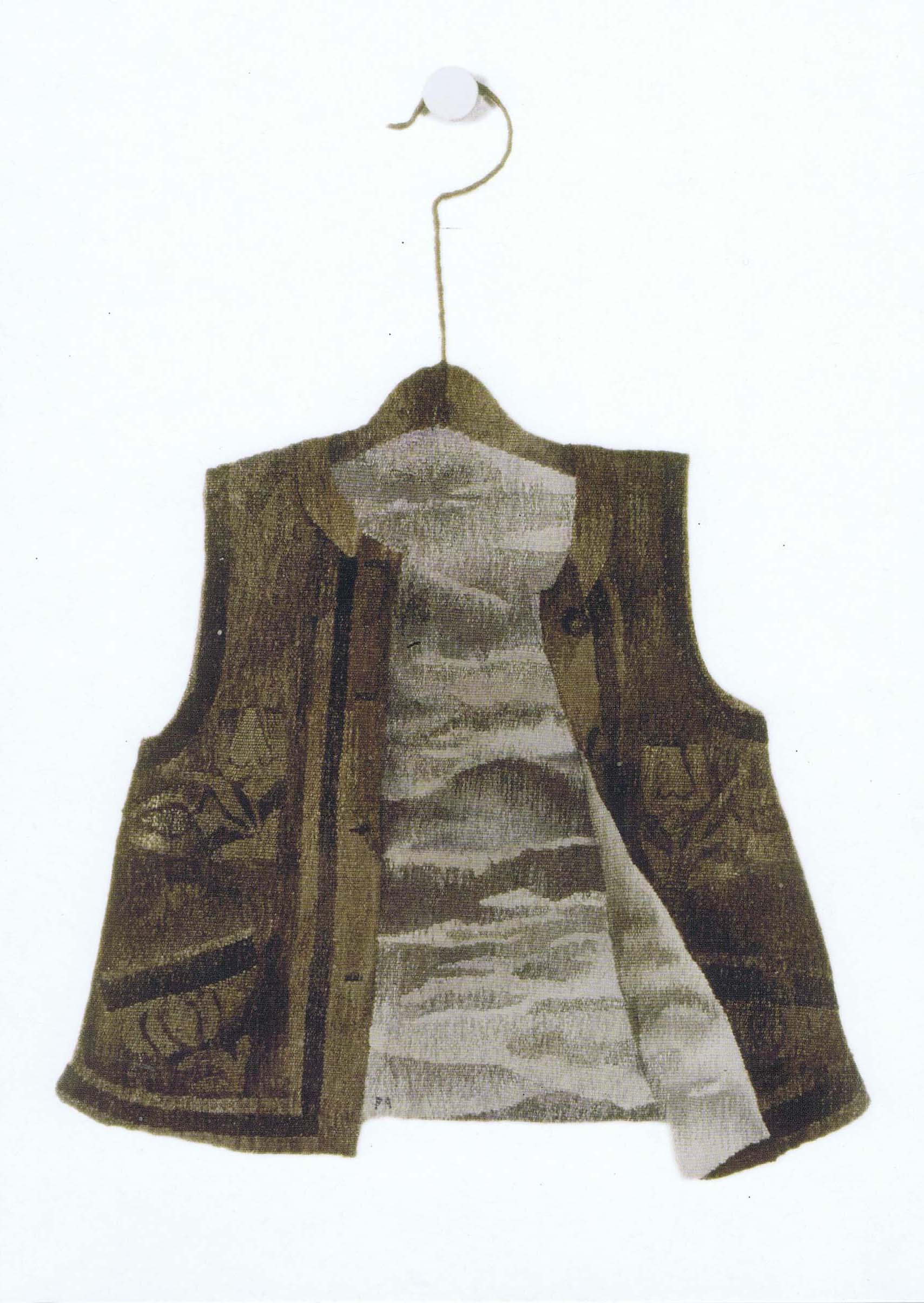 KÖDMÖN - gobelin; gyapjú, selyem, 1984 (80×62 cm)