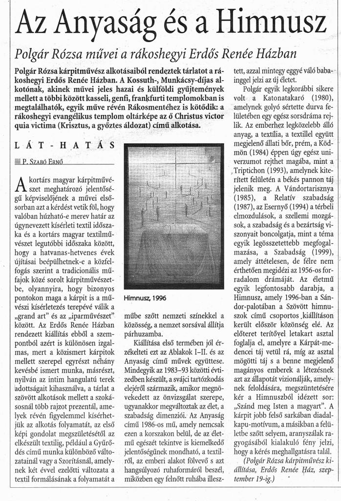 MN cikk Polgár Rózsa